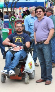 Albert Estrada (left) and Antonio Villanueva (right) enjoy PACfest.