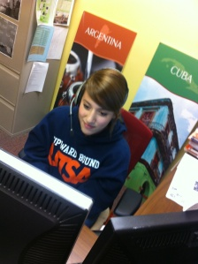 PAC student studying for her next Spanish Exam. Photo Credit: Felicia Palomo