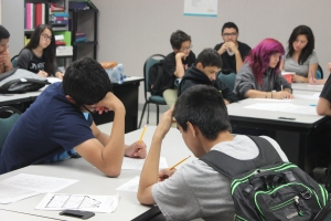 Photo of Frank L. Madla students working on assignments. Photo By Ami Sarabia.