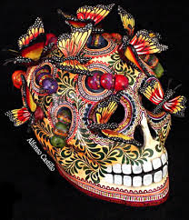 Photo of Day of the Dead Sugar Skull. Photo by John Savoie.
