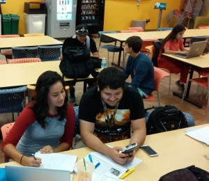 Photo of students studying for their math course. Photo by Joseph Losoya.