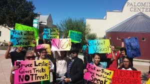 Photo of students protesting generic degrees on Oct. 13. Photo by Joseph Losoya.
