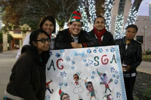 Amanda Erika Reyes, Lilia A. Enriquez, Estephanie Rodriguez, Phillip Oberst, Juan Jose Higa, Vincent Arredondo and Carlos Montez at the Palo Alto College 2014 Holiday Lighting Ceremony