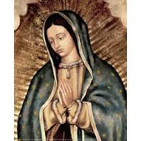 photo illustrated of  the virgin de guadalupe