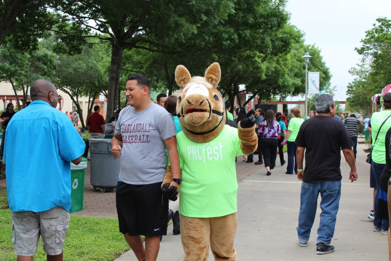 PAC Pal walking around campus Photo by Twyla Herron