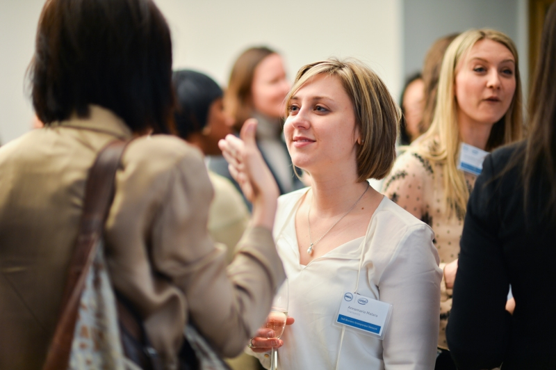 Fellow Entrepreneur Annamaria Malara at the Dell Women's Entrepreneur Network event in New York City