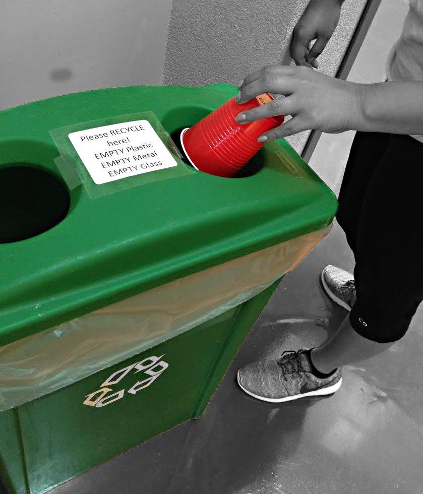 Palo Alto student recycling. Photo by Nia Jaramillo