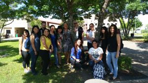 Professor Gonzalez with students