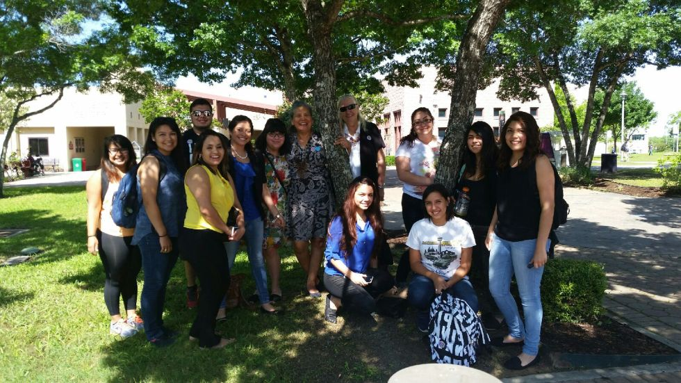 Professor Gonzalez with students