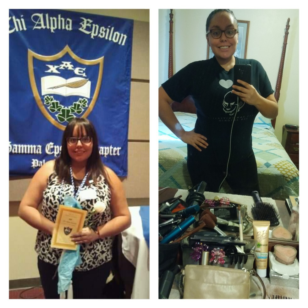 Photo of Alyssa de la O, a graduate of PAC and TAMUSA, has lost more than 60 pounds by watching what she eats and exercising.