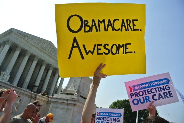 A photo of a sign saying Obamacare. Awesome.