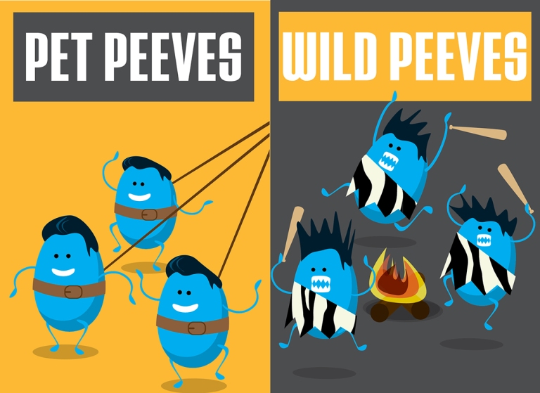 Pet Peeves vs. Wild Peeves by Noa Ward.