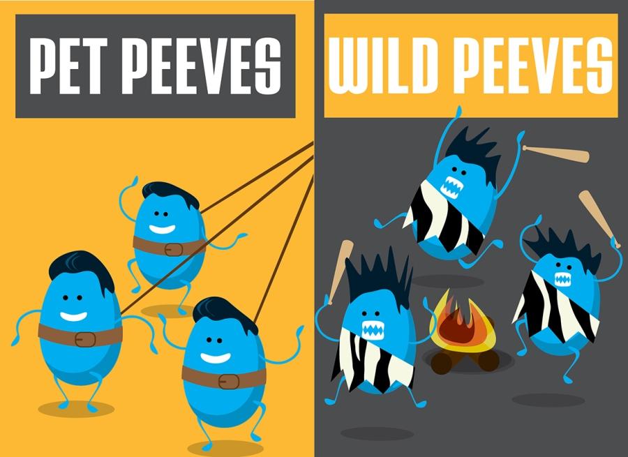 Pet Peeves vs. Wild Peeves by Noa Ward.