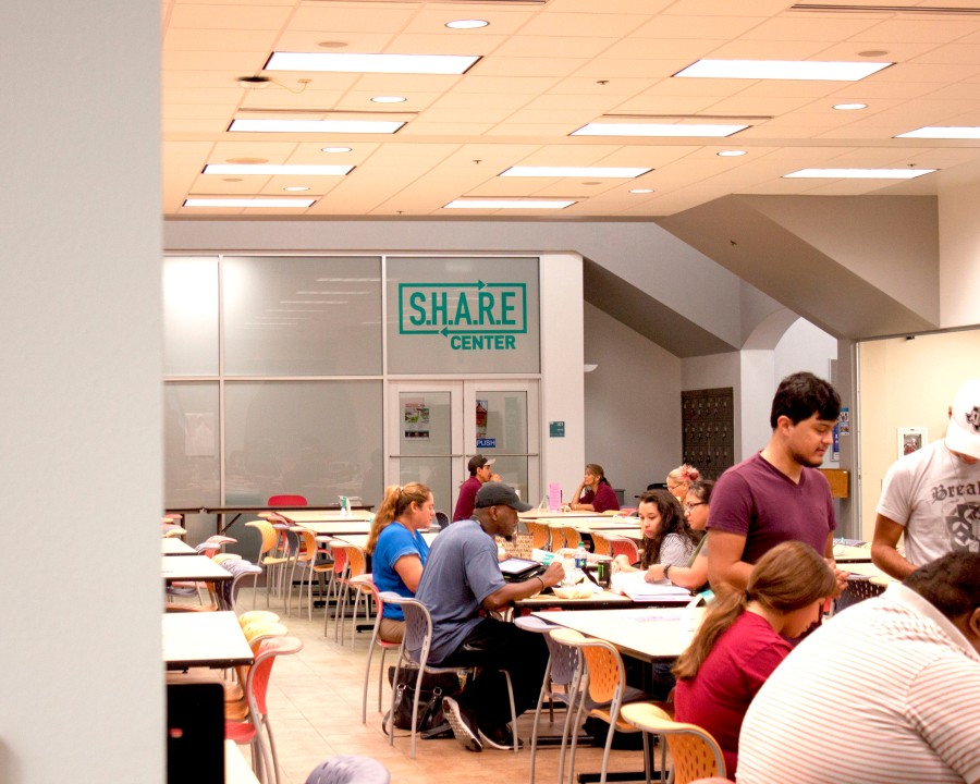 New S.H.A.R.E. Center in the Student Center building