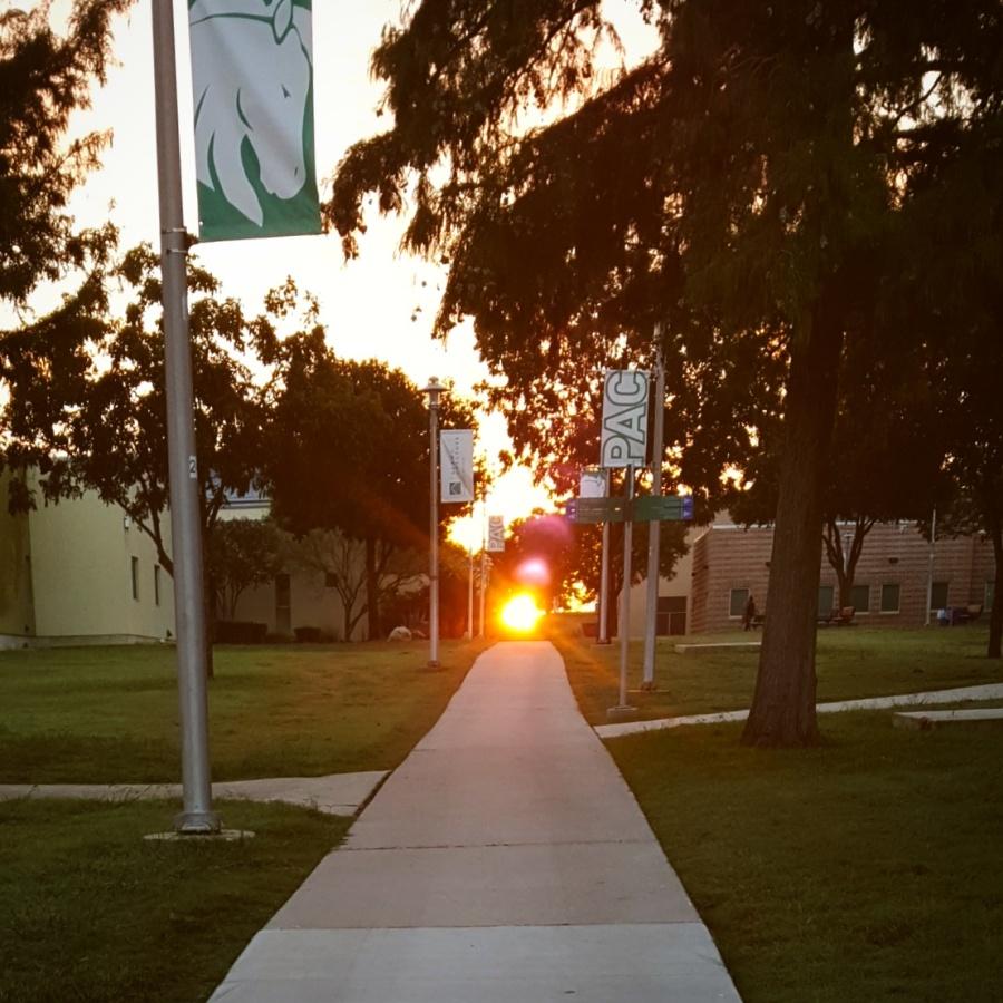 Photo of sunrise at Palo Alto College.