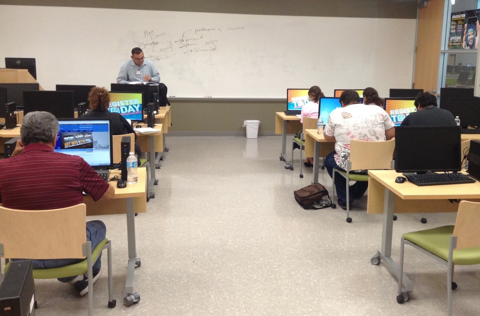 Photo of GED class at Palo Alto College