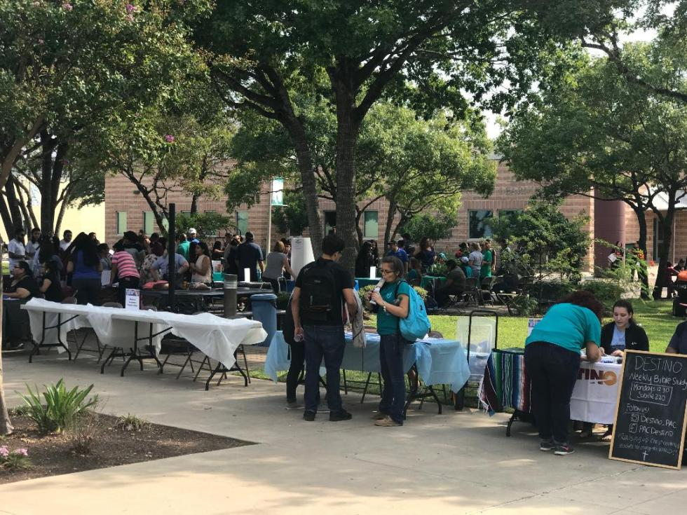 PAC students enjoying a beautiful day at Club Rush
