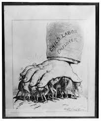 Political cartoon of child labor.