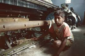 Young Indian boy working.