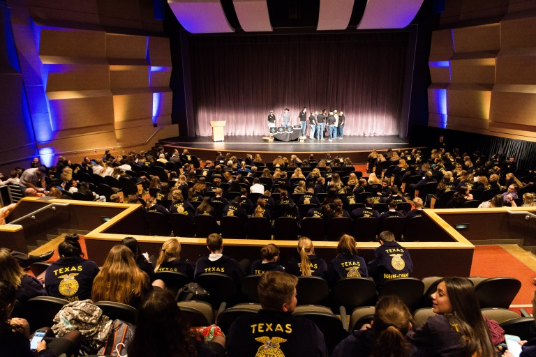 Students gather in the Performing Arts Auditorium for the awards ceremony. Photo by Palo Alto College Public Relations.