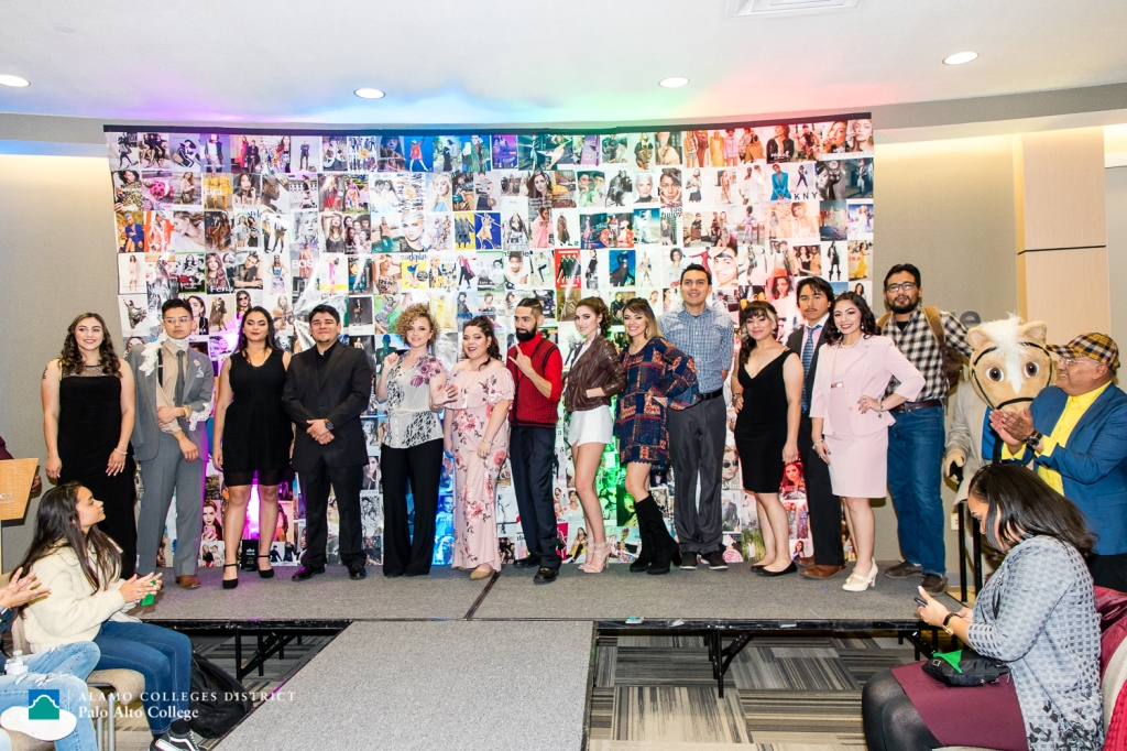 Photo of the 2019 America Recycles Day Fashion Show participants by Jason Gaines.