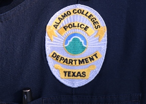 Photo of the Alamo Colleges Police Department uniform patch