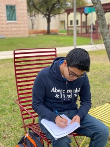 Palo Alto College student takes advantage of tutoring help.
